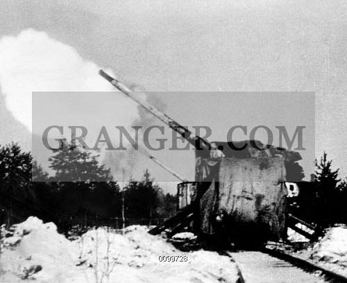 Image of RUSSO-FINNISH WAR, 1939-40. - Soviet Railway Guns Battering The Mannerheim Line ...