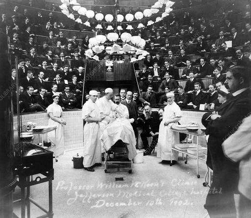 Surgical amphitheatre, 1902 - Stock Image C026/3060 - Science Photo Library