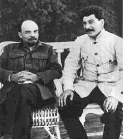 Lenin and Stalin in 1922 as Stalin was outmaneuvering Trotzky to take over the Communist ...