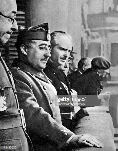Francisco Franco (4 December 1892 - 20 November 1975), Spanish General and dictator, head of ...