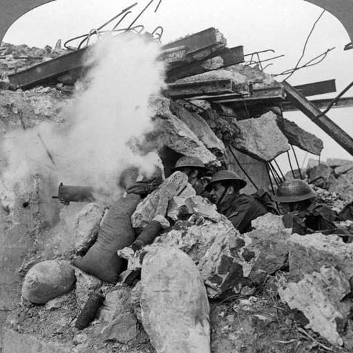 Machine Gun Nest, Poelcappelle, Belgium, World War I, 1914-1918 Photographic Print at AllPosters