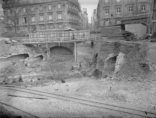 Construction du métro, Paris 1902-1910 Jules Girard, photogr. | Paris |  | Paris metro