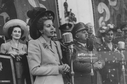 Eva Peron , wife of President of Argentina Juan Peron, speaks in to a... News Photo |  Images