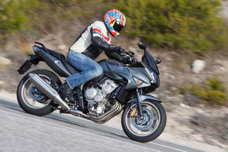 Honda-motorbike-riding-sideways-shot