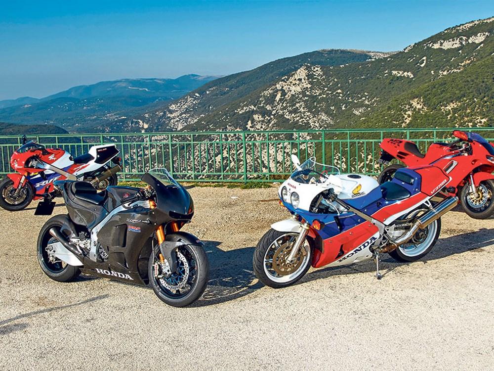 four-Honda-sportsbikes-static