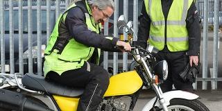 Practical motorbike test