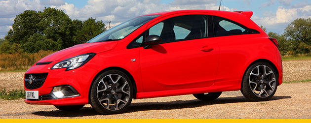 Vauxhall Corsa VXR in bright red