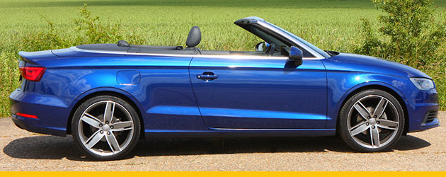 Audi A3 convertible in blue