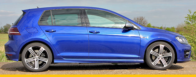Volkswagen Golf in electric blue