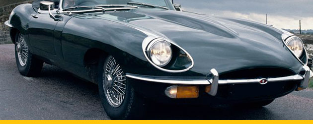 Classic Jaguar headlights being used for Business