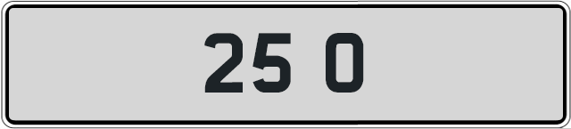 25-O-private-licence-plate