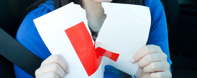 Torn up L-plate