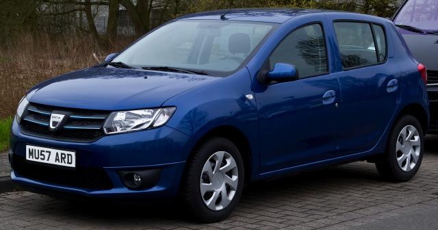 Blue Dacia Sandero