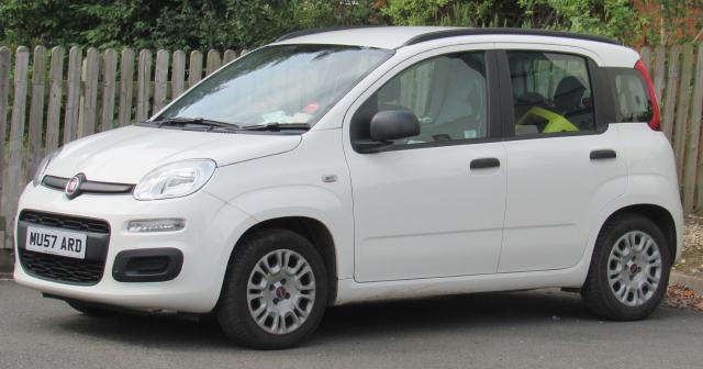 White Fiat Panda