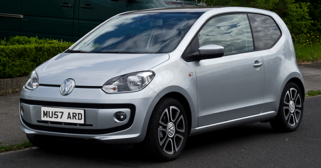 Silver VW up!