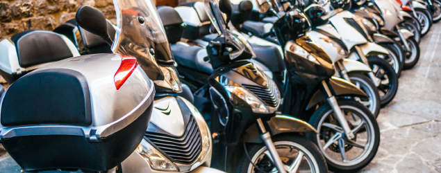 Range of motorbikes