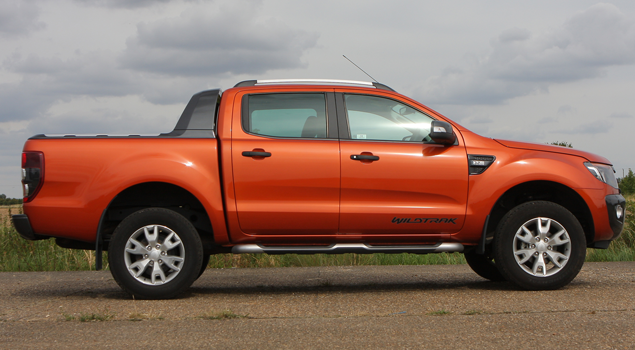 ford-ranger-orange-pickup-truck