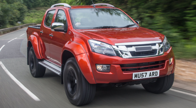 isuzu-dmax-red-pickup-truck
