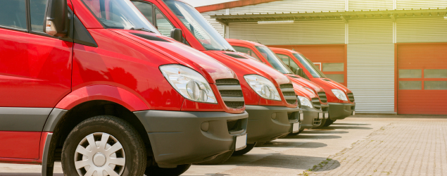different-types-of-van-red-parked