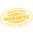 Cheapest Price Guarantee stamp