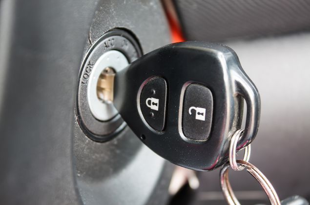 car keys in ignition