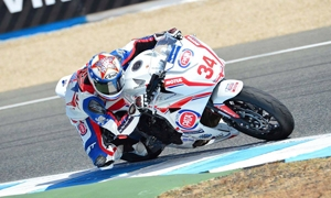 Dan Drayton in the points in Jerez