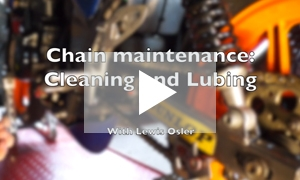 VIDEO: Motorcycle chain maintenance
