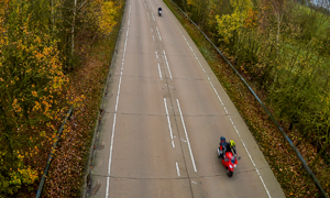 Autumn hazards for bikers