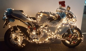 Day 3 - Decorate your bike for Christmas