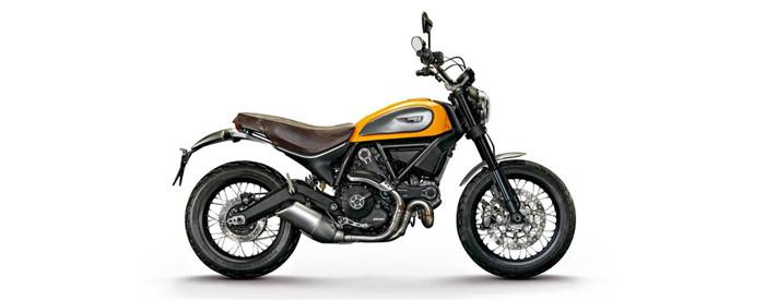 Ducati Screambler in yellow 700px