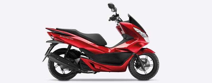 Honda PCX in red 700px