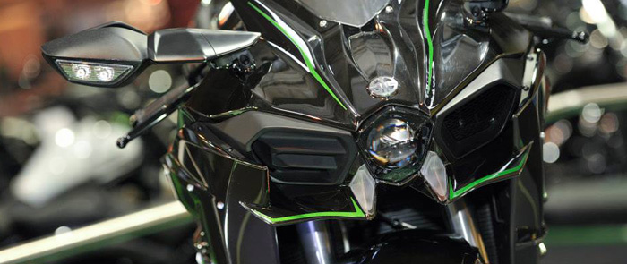 Kawasaki Ninja H2 close-up