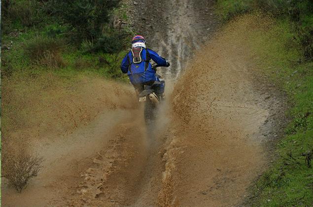 Adventure motorbike rider