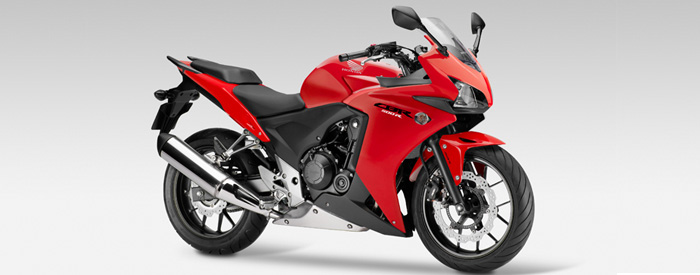 Honda CBR500R in red Studio shot 700px slim