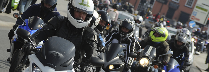 700px shot of riders on the road in Southend