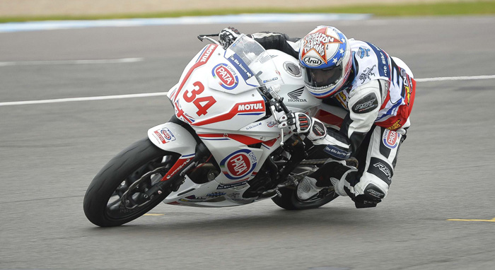 Dan Drayton on track at Donington Park during the EJC race in 2015