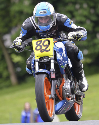 Lewis Osler on track at Cadwell during ThundersportGB 500 Series textphoto