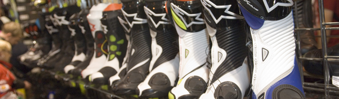 boots from motorcycle live