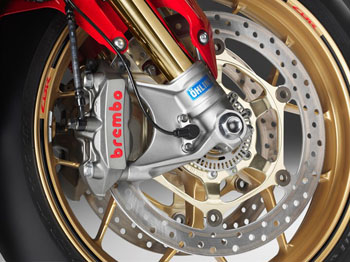 brakes and suspension close up