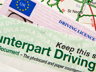 UK driving licence and paperwork
