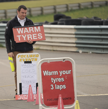 Warm tyre warning at Focused Events at Mallory Park