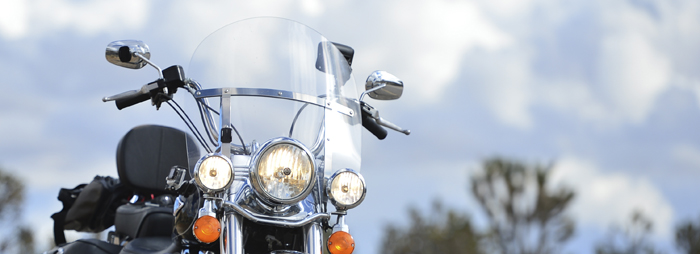headlights close up in Nevada on Harley-Davidson Heritage Softail Classic