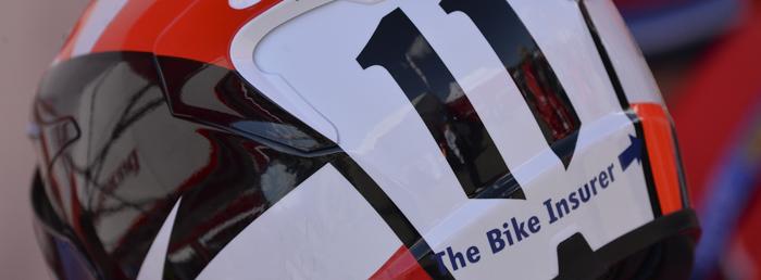 The Bike Insurer logo on one of the EJC riders in Assen