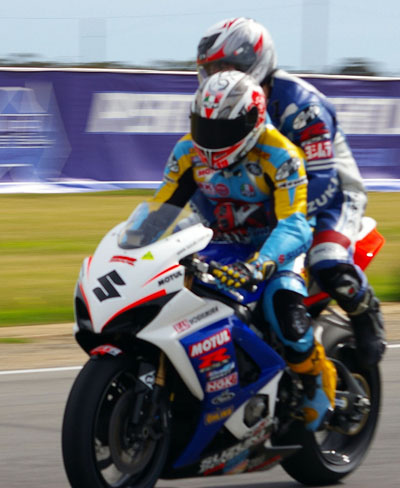 pillion racing in Oz tall
