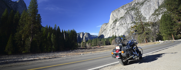 road trip and touring in Yosemite national park