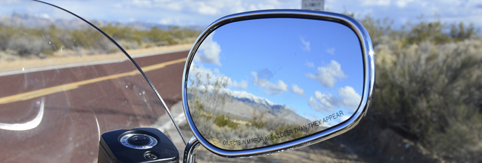 wing mirror on Harley-Davidson Heritage Softail Classic in Nevada