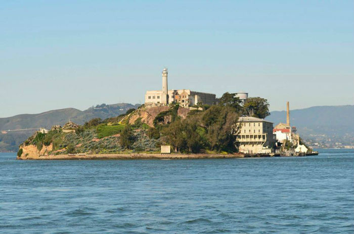 Approaching Alcatraz from San Francisco via boat