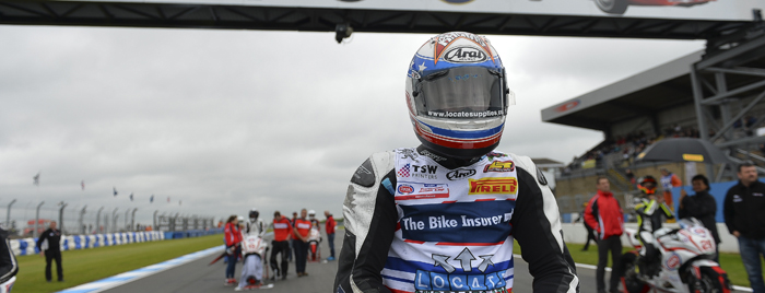 Dan Drayton on the start line at Donington in the EJC 2015 700px