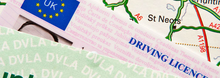 Driving licence close up
