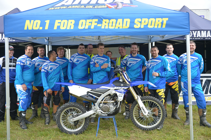 Group of off road novices waiting to get out on track at MCIA's MORE event in Wiltshire 700px